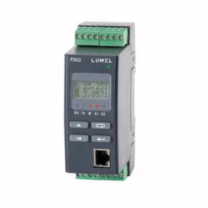 Traductor LUMEL P30O, MODBUS TCP, 2 intrări impuls, 2 ieșiri alarmă, ETHERNET, alimentare 85-253VAC/DC