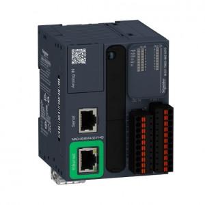 PLC SCHNEIDER ELECTRIC TM221ME16TG, 8DI/8DO, iesiri tranzistor, Ethernet, port serial (RJ45), bloc terminal detasabil, alimentare 24 VDC