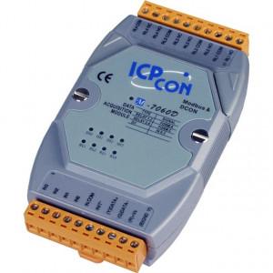 Modul I/O ICPDAS M-7060D-G CR, 4DI/4DO in releu, RS485, Modbus RTU