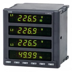 Analizor retea electrica LUMEL ND100, masurare parametri retele trifazate, memorie 8GB, MODBUS, RS485, 3 iesiri in releu si 1 iesire analogica