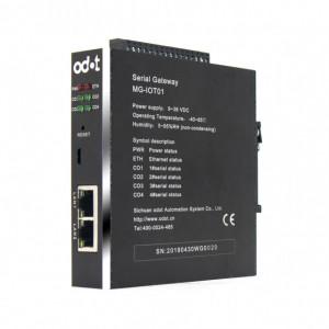 Convertor de protocol ODOT AUTOMATION SYSTEM MG-IOT01, PPI/HOSTLINK/FX series/MODBUS la MODBUS TCP sau MQTT, 4 porturi seriale RS232/RS485 sau 2 porturi RS422, 2 porturi ETHERNET, indicator led pentru status funcționare