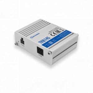 Modem GSM 4G TELTONIKA TRB145, gateway, MODBUS, MQTT, RS485, 2 intrari/iesiri digitale, micro USB, carcasa metalica