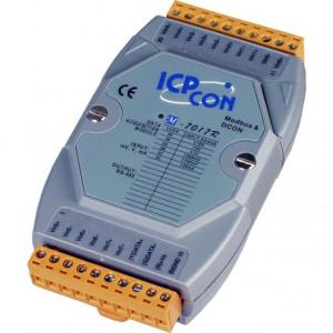 Modul I/O ICPDAS M-7017R-G CR, 8AI diferentiale, RS485, Modbus RTU