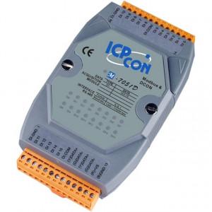 Modul I/O ICPDAS M-7051D-G CR, 16DI izolate, RS485, Modbus RTU