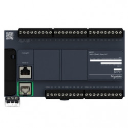PLC SCHNEIDER ELECTRIC TM221CE40R, 24DI/16DO, iesiri releu, Ethernet, port serial (RJ45), alimentare 100 - 240 VAC
