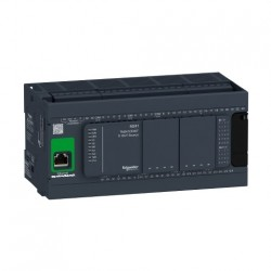 PLC SCHNEIDER ELECTRIC TM241CE40T, 24DI/16DO, iesiri tranzistor, Ethernet, port serial (RJ45), alimentare 24 VDC