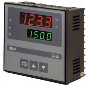 Regulator de temperatura LUMEL RE41, 2 intrari universale, 2 iesiri in releu maxim 2A, PID control, RS485