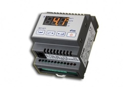 Regulator temperatura digital, intrare PTC/NTC10K, montare pe sina DIN, interfata RS485