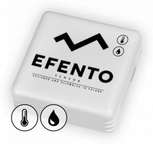 Senzor temperatură umiditate wireless EFENTO BLE-TH, BLUETOOTH, data logger memorie 60000 de înregistrări, alimentat cu baterii