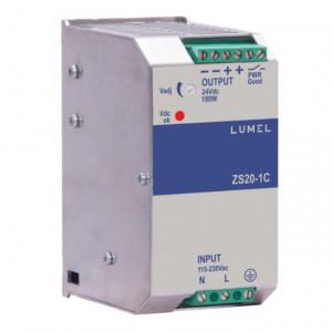 Sursa de alimentare LUMEL ZS20-1C, iesire 24V DC, 7.5A, 180W, montaj pe sina DIN