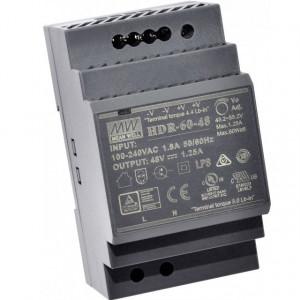 Sursa de alimentare MEAN WELL HDR-60-48, iesire 48V, 1.25A, 60W, montaj pe sina DIN
