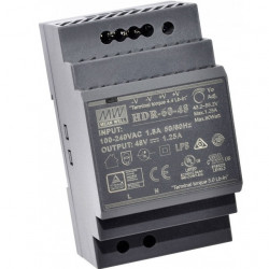 Sursa de alimentare MEAN WELL HDR-60-48, iesire 48V, 1.25A, 60W