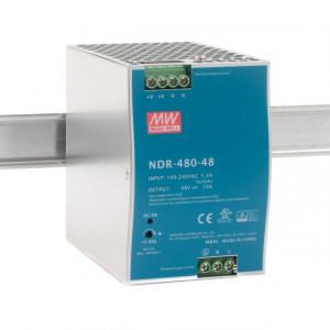 Sursa de alimentare MEAN WELL NDR-480-48, iesire 48V, 10A, 480W, cun montaj pe sina DIN