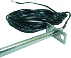 Termistor 10K (type 3) TEMCO CONTROLS DTS-FL-12-6-24, montare in circuite HVAC, sonda 12'', cablu ignifugat, 15cm
