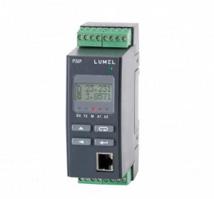 Traductor măsurare parametri rețele monofazate LUMEL P30P, MODBUS TCP, 1 intrare analogică, 1 ieșire analogică și 2 ieșiri în releu, ETHERNET, alimentare 5-253VAC/85-300VDC