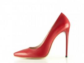 Poze Pantofi din piele naturala Stiletto Hot Red