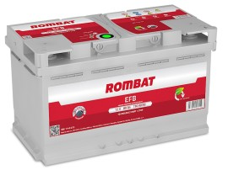Poze Acumulator Auto Rombat EFB 12V 80Ah