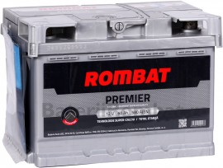 Poze Acumulator Auto Rombat Premier 12V 60Ah