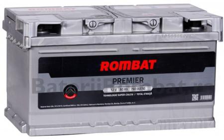 Poze Acumulator Auto Rombat Premier 12V 80Ah