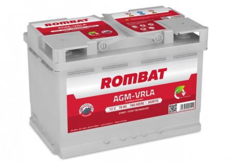 Poze Acumulator Auto Rombat AGM 12V 70Ah