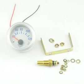 """Indicator Temperatura Blue LED 2"""" 52mm Analog 40-120 Celsius"""