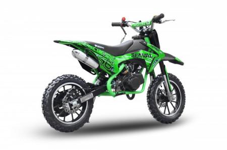 """MOTO CROSS 50cc midi DIRT BIKE Serval Prime Poket J10"""" OFERTA livrare GRATIS"""