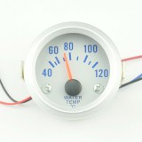 "Indicator Temperatura Blue LED 2"" 52mm Analog 40-120 Celsius"
