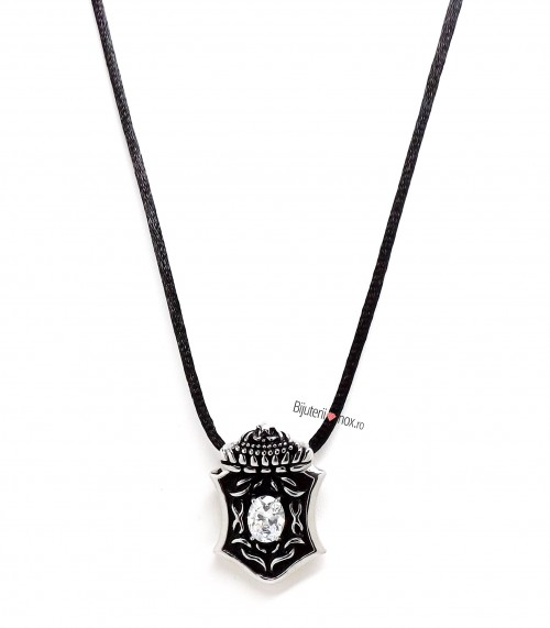 Poze Snur cu pandantiv inox - THE DAMNED - Vintage- Patinat Artificial - 608