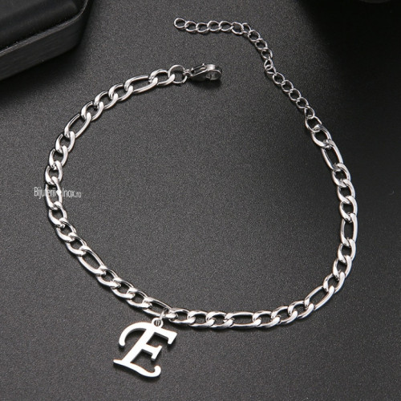 Bratara din inox -litera E- BF683