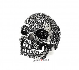Inel inox - SKULL - Clubbing Collection - Vintage- Patinat Artificial - i687