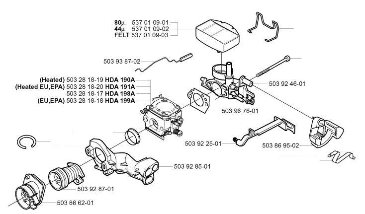 schema reparatie carburator drujba husqvarna 357  359