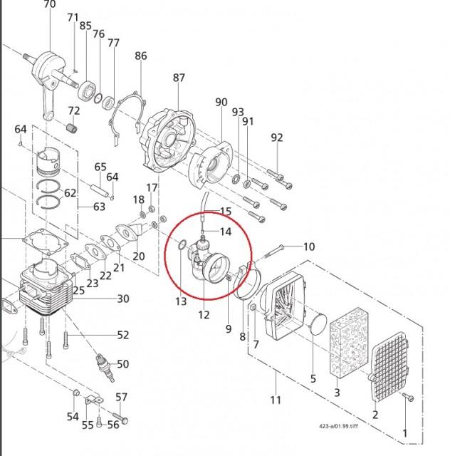 carburator atomizor solo 423