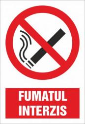 Indicator Fumatul interzis 30x20cm