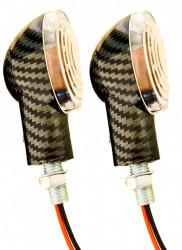 Set semnale scuter carbon ovale (nr.1)