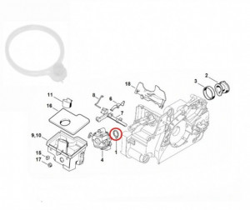 Saiba carburator drujba Stihl 017, 018, MS170, MS180 (buc)