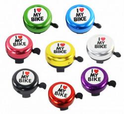"""Sonerie bicicleta """"I love my bike"""" diverse culori"""