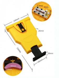 Dispozitiv portabil pentru ascutire lant drujba