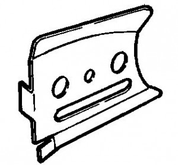 Placa lama Husqvarna 257, 261, 262 (originala) - capac