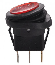Comutator simplu rotund KCD1 6A (rezistent la apa)