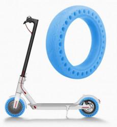 Cauciuc solid trotineta electrica albastru florescent 8.5 Inch