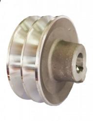 Fulie dubla motor generator, motopompa, motocultor 13 CP (ax 25mm, diametru 90mm)