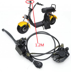 Kit frana hidraulica scuter electric City Coco (dreapta - fata - 120cm)