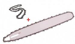 Lama drujba + 2 lanturi 32 dinti pas 3.25 38cm