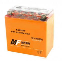 Baterie gel Scuter, Atv 14ah 12v (portocalie) 14.5 x 14.5x 8.5cm