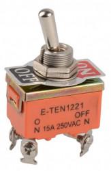 Comutator on-off 15A 250V 1221 (4 papuci)
