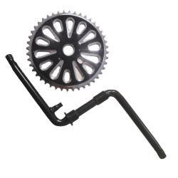 Foaie angrenaj pedalier cu brate bicicleta BMX