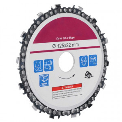 Disc polizor unghiular cu lant de drujba (Ø 22x 125 mm)