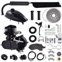 Kit motor bicicleta 80cc 2 TIMPI (Negru)