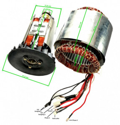 Stator si Rotor generator 5-6 KW (Gx 390, 188 ) Cupru (Trifazic)