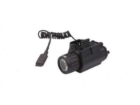 LANTERNA 150 LUMEN, Tactical light, 3W, including switch + picatinnyweaver CODE 16076